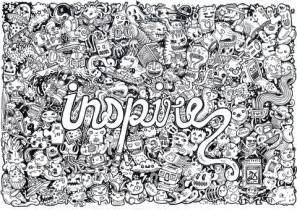 inspire doodle coloring free printable coloring pages