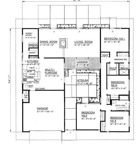 eichler atrium floor plan 15 best images about mid century floor plans on pinterest