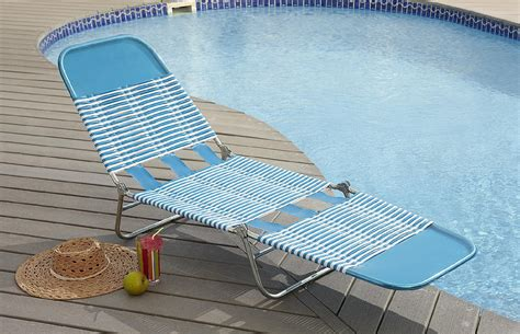 Pvc Chaise Lounge Chair by Garden Oasis Pvc Chaise Lounge Blue Outdoor Living