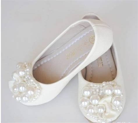toddler flower shoes ivory ivory flower shoes toddler shoes pearl