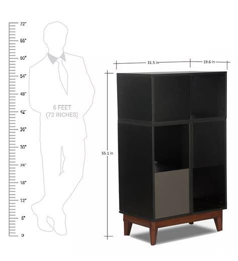 buy minimax book shelf in black finish by godrej interio
