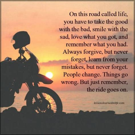 lessons learned in lifethe ride goes on lessons learned