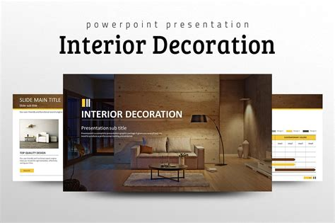 Interior Design Powerpoint Presentation | interior decoration ppt presentation templates