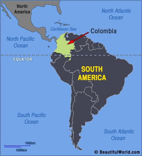map of colombia in south america map of colombia facts information beautiful world