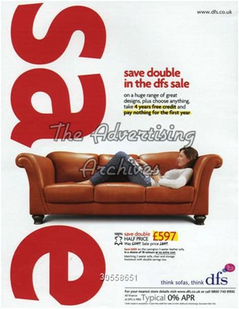 sofa slogans the advertising archives magazine advert dfs 2000s