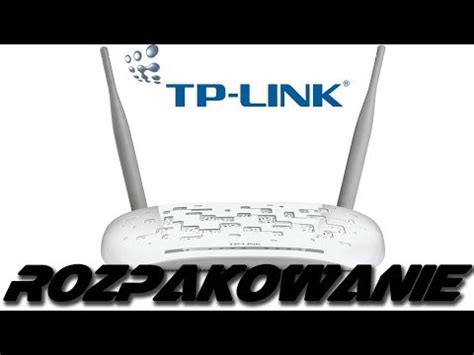 Tp Link Wireless Modem Router Td W8961nd tp link td w8961nd adsl2 300mbps modem router rozpakowanie