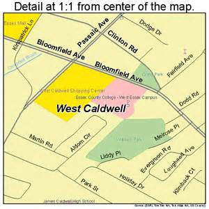 map of caldwell west caldwell new jersey map 3478500