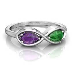 amethyst and emerald infinity ring r5050 wamem