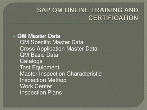 sap qm tutorial pdf sap qm online training in india