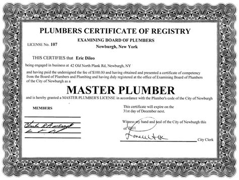 Plumbing Certification plumbing contractor newburgh ny valenza plumbing heating air conditioning