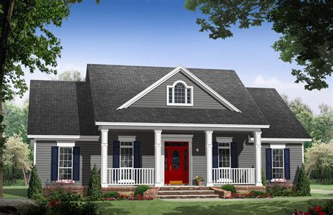 Country Comfort With Two Porches 51164mm Country Usda House Plans
