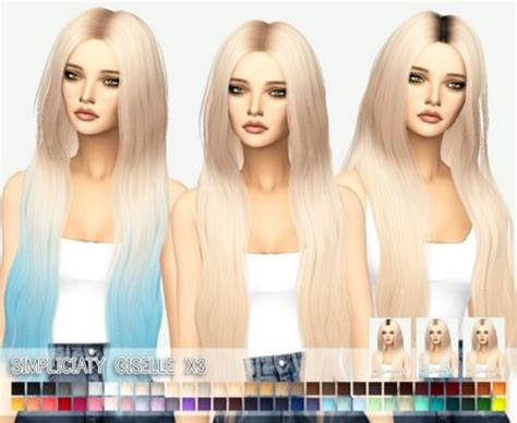 simplicity sims 4 cc spring4sims simplicity giselle hairstyle retextured for