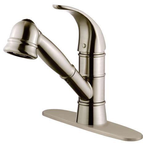 nickel faucets kitchen lk14b brushed nickel finish pull out kitchen faucet