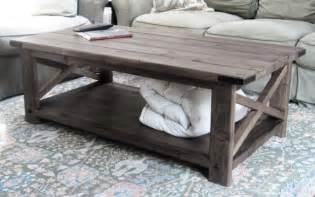Building A Rustic Coffee Table White Rustic X Coffee Table Diy Projects