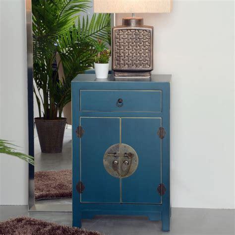 comodini cinesi comodino orientale cinese azzurro mobili etnici cinesi
