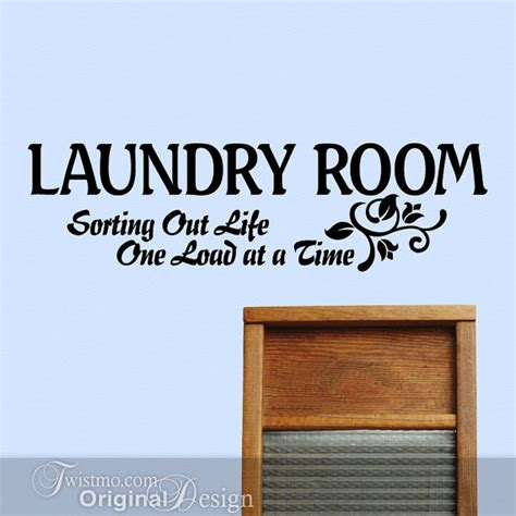 Etsy Laundry Room Decor Laundry Room Decor Vinyl Decal Sign Sorting Out One Load