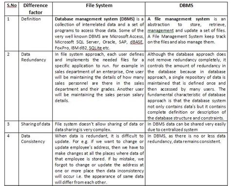 what is the difference between dbms and rdbms file system v s dbms biyani institute of science and