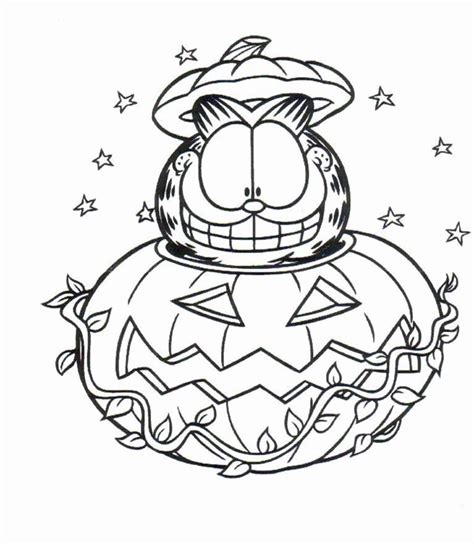 garfield  cat coloring pages  kids