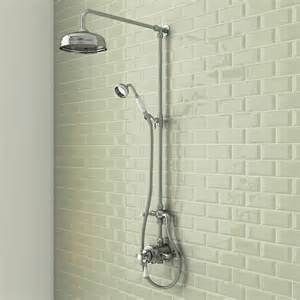 Traditional Bath Taps With Shower Mixer trafalgar traditional dual exposed shower valve