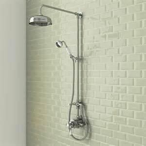 shower trafalgar traditional dual exposed shower valve