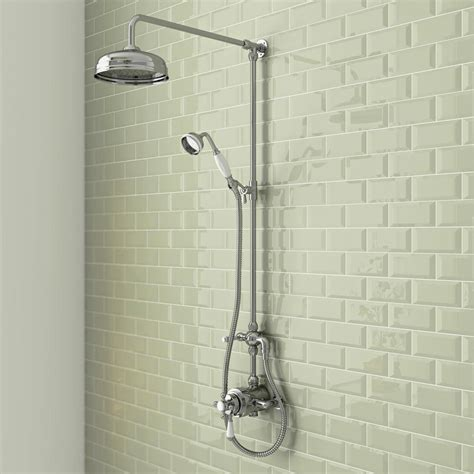 A Shower by Trafalgar Traditional Dual Exposed Shower Valve