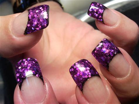 glittery purple nail art purple acrylic nail designs nailspedia