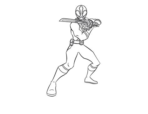Power Ranger Samurai Coloring Page free coloring pages of samurai ranger