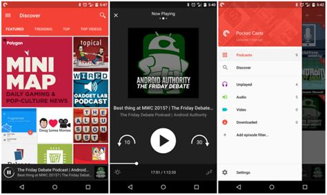 design news app android pocket casts gets material design and a ton of new