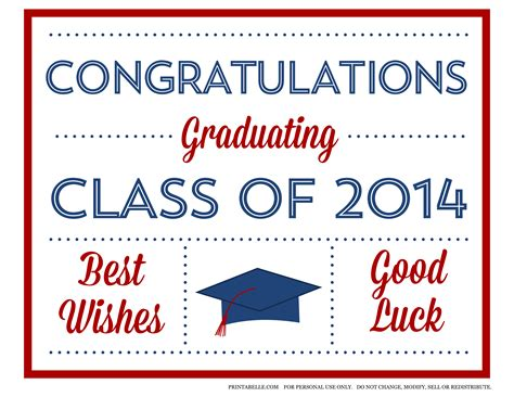 Graduation Card Templates Publisher by Free 2014 Graduation Printables From Printabelle