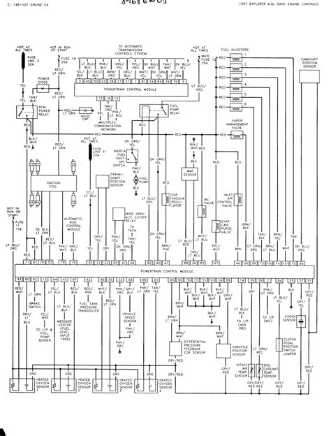 wiring diagram 1997 ford explorer 1997 ford explorer parts