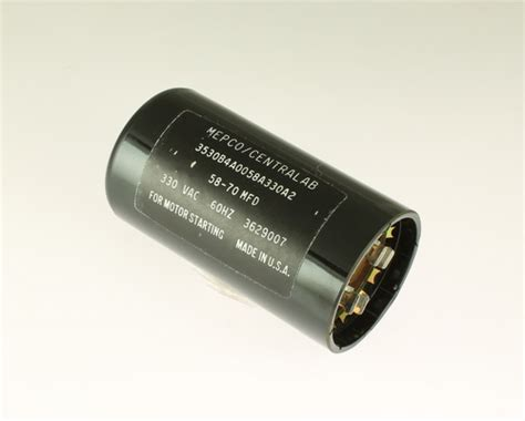 330v capacitor 3530b4a0058a330a2 mepco centralab capacitor 58uf 330v application motor start 2020063439