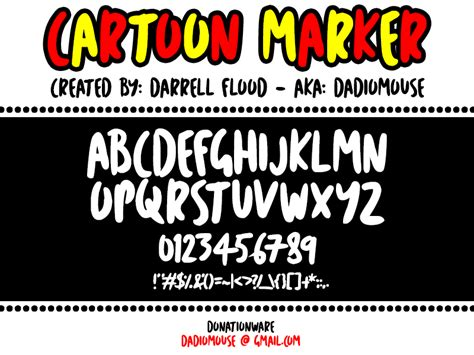 dafont cartoon cartoon marker font dafont com