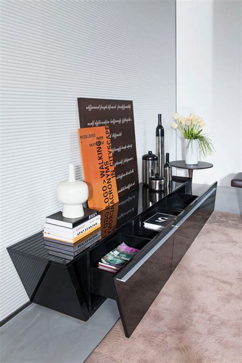 modrest barbara contemporary black tv stand entertainment centers living room