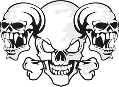 skull 3 logo vector cdr free download