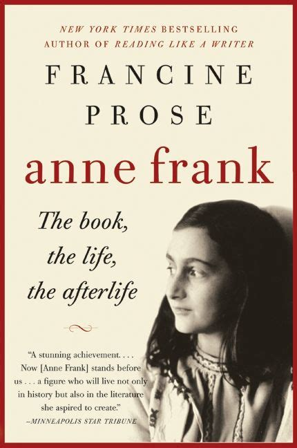biography anne frank summary anne frank francine prose paperback