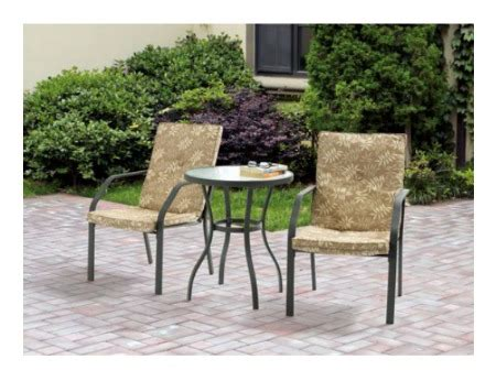Design For Mainstays Patio Furniture Ideas Mainstays Creek 3 Outdoor Bistro Set 69 00