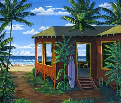 Hawaii Cabins by Lahaina Printsellers Hawaiian Cabin Day