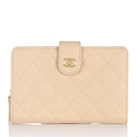 Chanel Quilted Wallet by Chanel Quilted Caviar Leather Zip Pocket Wallet