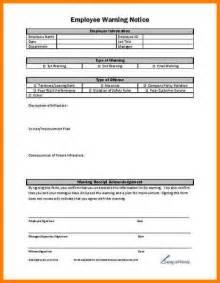 doc 600730 employee warning notice employee warning
