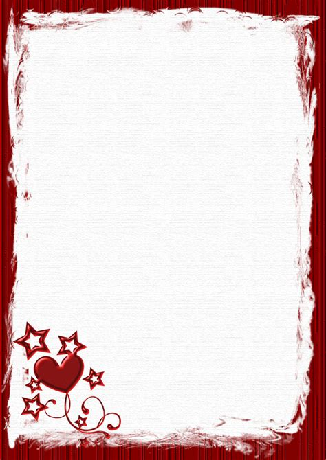 valentine templates for word a4 valentines day holiday stationery pg 1