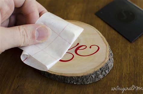 Transfer Paper For Wood Crafts - diy vinyl wood slice ornaments unoriginal