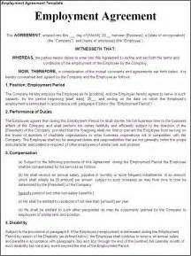 agreement between employer and employee template 17 best images about employer employee on