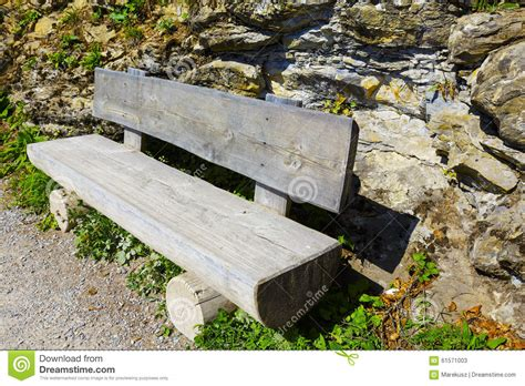 tree trunk benches wooden bench made of tree trunks stock photo image 61571003