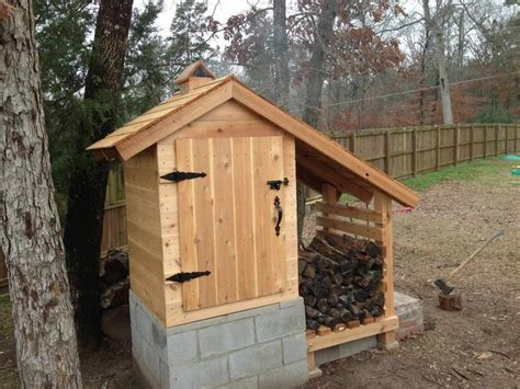backyard smokehouse plans diy cedar smokehouse