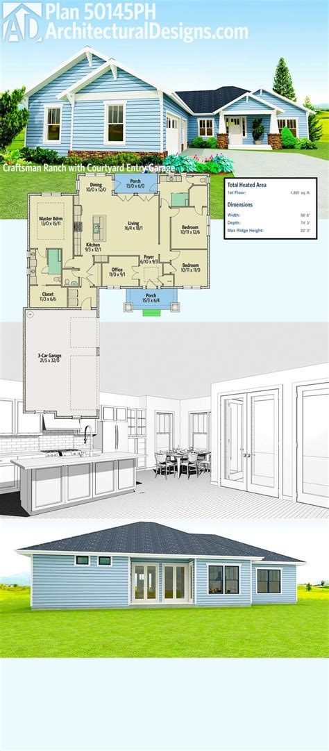 craftsman style ranch home plans best 25 craftsman ranch ideas on ranch floor