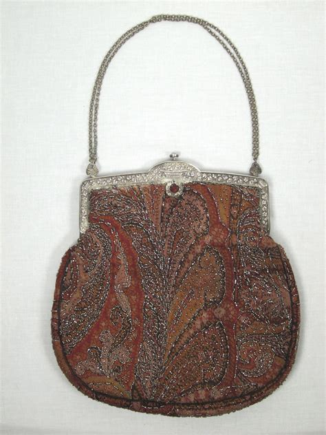beaded purses for sale 1925 beaded tapestry purse w mirror for sale antiques