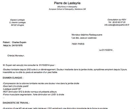 Exemple De Lettre De Recommandation Pour Medecin Modele Lettre Excuse Medecin