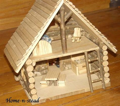 cabin dollhouse includes furniture dolls