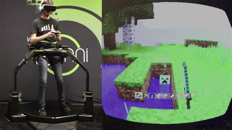 Omni Vr virtuix omni lets you stroll through minecraft s endless worlds on gear vr road to vr