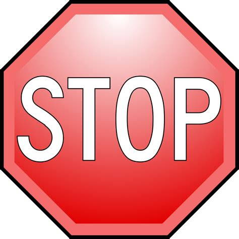 Stop With The by Fichier Stop Nuvola Alternate Text Svg Wikip 233 Dia